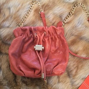 Badgley Mischka burnt orange crossbody bag